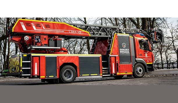 Ljubljana Fire Department Acquires Rosenbauer's Compact, Agile L32A-XS Turntable Ladder For Efficient Fire Safety Operations