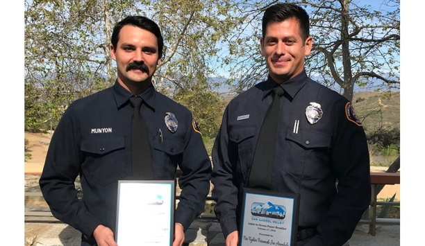 Los Angeles County Fire Department Fire Fighter Paramedics Honored By Regional Chamber Of Commerce SGV