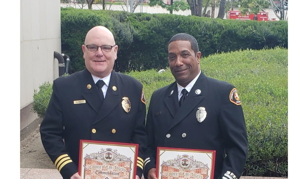 Los Angeles County Fire Department Team Members Recognized For Supporting The Harbor Interfaith Homeless Shelter