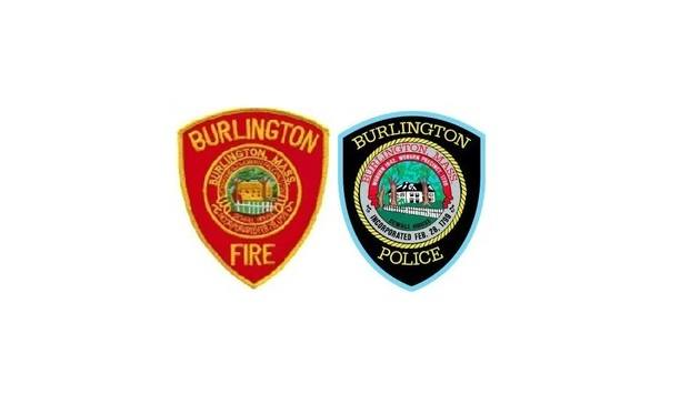 Burlington Police And Fire Departments Organize Event To Show Support For Lahey Hospital Employees