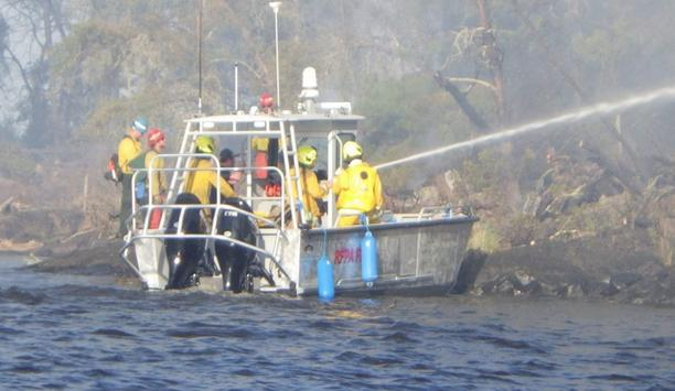 International Falls Fire Department Quickly Extinguishes Wildfire On The Shore Of Minnesota's Rainy Lake