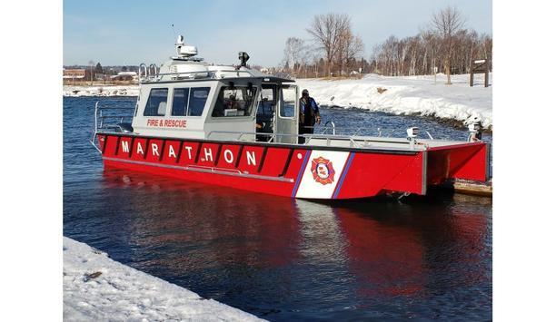 Lake Assault Boats' Fireboat Serving With Marathon Petroleum Company At Louisiana Refinery Operation
