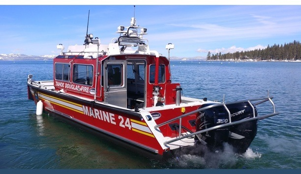 Lake Assault's Marine 24 Fire Boat Delivered To The Tahoe Douglas Fire Protection District In Nevada