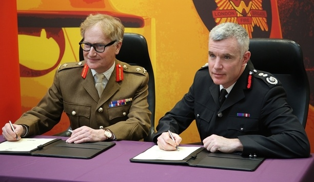 London Fire Brigade's First Commissioner Signs A Covenant With The UK Armed Forces