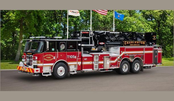 Charleston Fire Department Equips With Second Ascendant 100' Heavy-Duty Aerial Tower From Pierce Manufacturing Inc.