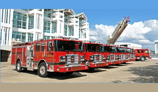 Pierce Manufacturing Delivers Five Enforcer Pumpers And An Ascendant 107' Aerial Ladder To Mobile Fire-Rescue Department