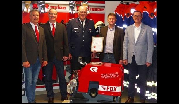 20,000th Rosenbauer FOX Portable Pump Supplied To Elsdorf-Westermühlen Fire Department