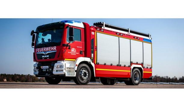 Rosenbauer Delivers Florian Henkel 01 GW-U Environment Protection Equipment Truck To Henkel Plant Fire Brigade