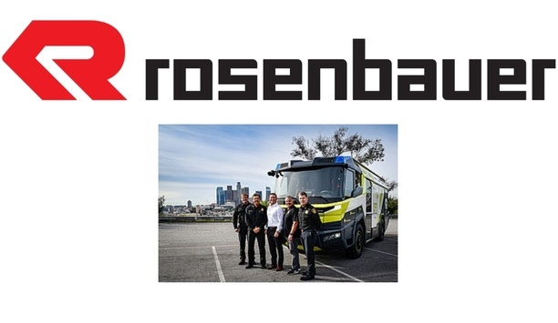 Rosenbauer's Pre-Series Vehicle Electric Fire Truck Selected By Los Angeles Fire Department