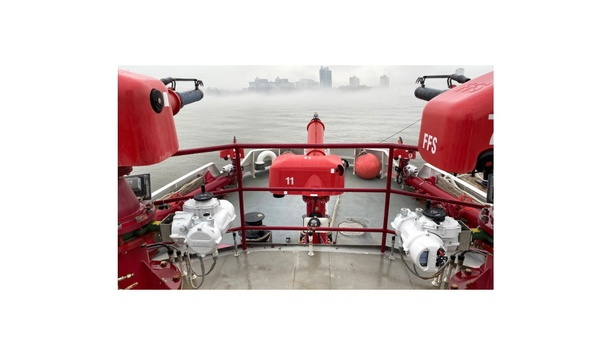 Rotork Provides IQ Part-Turn Actuators To Control The Flow Of Water From Fire Nozzles On Fireboats