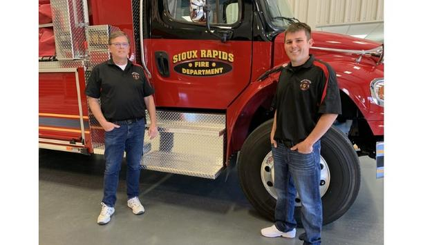 Sioux Rapids Fire Department's Firefighters Become Nostalgic While Picking Up A New Toyne Fire Pumper Vehicle