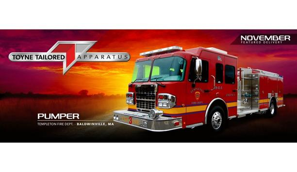 Toyne Provides Their Pumper Vehicle To Enhance Firefighting Operations For Templeton Fire Department