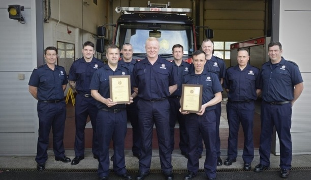 Byker Firefighters Commended By TWFRS' Chief Fire Officer Chris Lowther For Rescuing Woman On River Tyne
