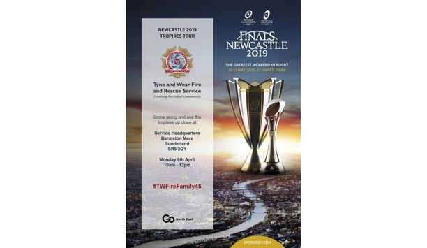 Tyne And Wear Fire And Rescue To Host Trophies For The Heineken Champions Cup And European Rugby Challenge
