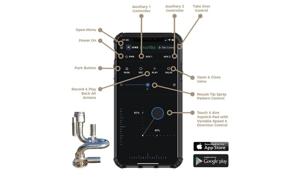 Unifire AB Unveils The ONE App For Wireless Remote Control Of Robotic Nozzles From iOS And Android Devices