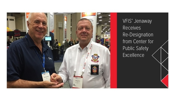 VFIS Vice President Bill Jenaway Receives Re-designation As CFO And CTO At IAFC Conference