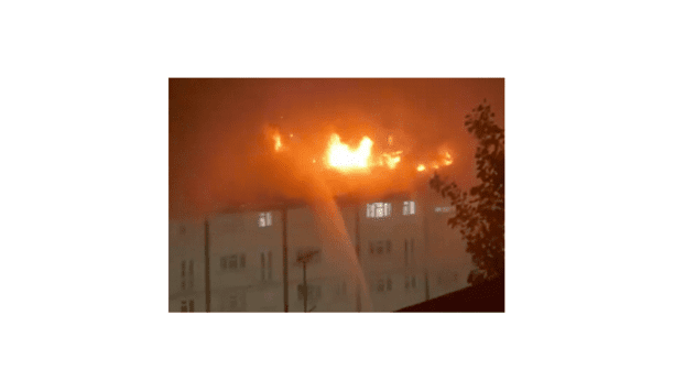 London Fire Brigade Attends To The Huge Blaze That Broke Out At The Wood Green Block Of Flats In North London