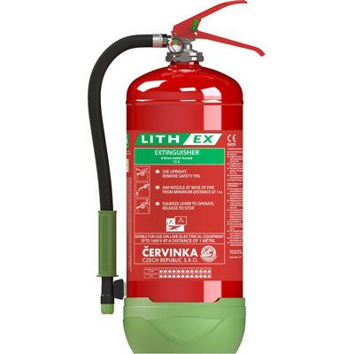 Cervinka 0270 portable lithium battery fire extinguisher