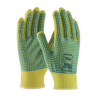 Protective Industrial Products 08-K200PDD Seamless Knit Kevlar® Glove with Double-Sided PVC Dot Grip - Light Weight