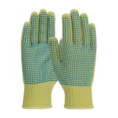 Protective Industrial Products 08-K252 Seamless Knit Kevlar® / Cotton Plated Glove with Double-Sided PVC Dot Grip - Medium Weight