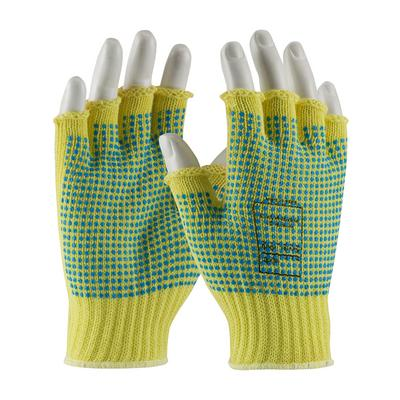 Protective Industrial Products 08-K259PDD Seamless Knit Kevlar® Glove with Double-Sided PVC Dot Grip - Half-Finger