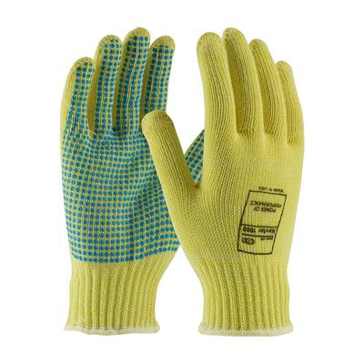 Protective Industrial Products 08-K300PD Seamless Knit Kevlar® Glove with PVC Dot Grip - Medium Weight