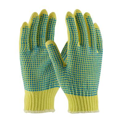Protective Industrial Products 08-K300PDD Seamless Knit Kevlar® Glove with Double-Sided PVC Dot Grip - Medium Weight
