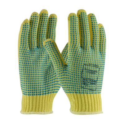 Protective Industrial Products 08-K350PDD Seamless Knit Kevlar® Glove with Double-Sided PVC Dot Grip - Heavy Weight