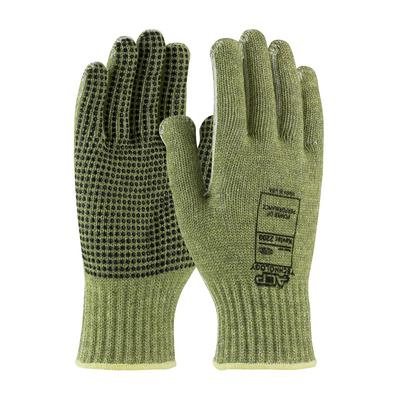 Protective Industrial Products 08-KA740PD Seamless Knit ACP / Kevlar® Blended Glove with PVC Dot Grip and Polyester Lining - Economy Weight