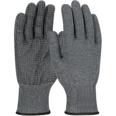 Protective Industrial Products 08-KAB750PD Seamless Knit ACP / Kevlar® Blended Glove with PVC Dot Grip - Lightweight