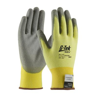 Protective Industrial Products 09-K1250V Seamless Knit Kevlar® / Elastane Glove with Polyurethane Coated Flat Grip on Palm & Fingers - Vend-Ready