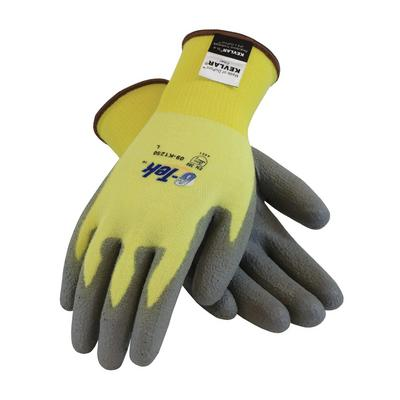 Protective Industrial Products 09-K1250 Seamless Knit Kevlar® / Elastane Glove with Polyurethane Coated Flat Grip on Palm & Fingers