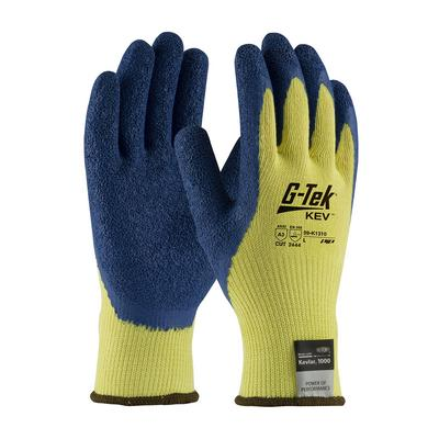 Protective Industrial Products 09-K1310 Seamless Knit Kevlar® Glove with Latex Coated Crinkle Grip on Palm & Fingers