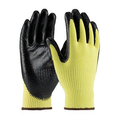 Protective Industrial Products 09-K1400 Seamless Knit Kevlar® Glove with Nitrile Coated Smooth Grip on Palm & Fingers - Medium Weight