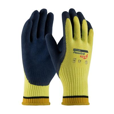 Protective Industrial Products 09-K1444 Seamless Knit Kevlar® Glove with Latex Coated MicroFinish Grip on Palm & Fingers