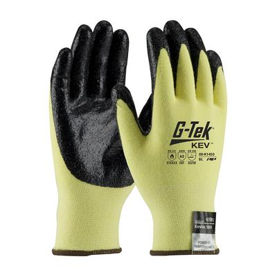 Protective Industrial Products 09-K1450 Seamless Knit Kevlar® / Elastane Glove with Nitrile Coated Smooth Grip on Palm & Fingertips - Medium Weight