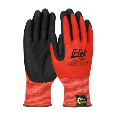 Protective Industrial Products 09-K1640 Hi-Vis Seamless Knit Kevlar® Blended Glove with Nitrile Coated Foam Grip on Palm & Fingers