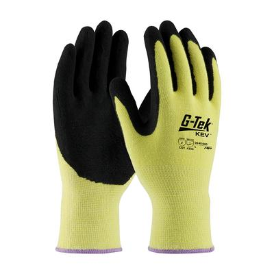 Protective Industrial Products 09-K1660 Seamless Knit Kevlar® Glove with Double-Dipped Nitrile Coated MicroSurface Grip on Palm & Fingers - Medium Weight