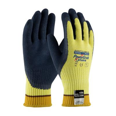 Protective Industrial Products 09-K1700 Seamless Knit Kevlar® / Steel Glove with Latex Coated MicroFinish Grip on Palm & Fingers