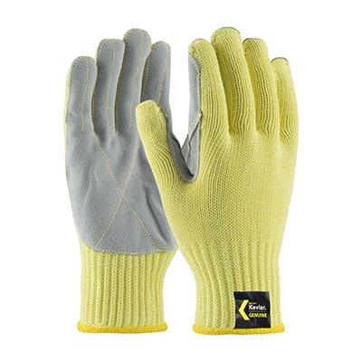 Protective Industrial Products 09-K300LP Seamless Knit Kevlar® Glove with Split Cowhide Leather Palm and Kevlar Stitching - Knit Wrist