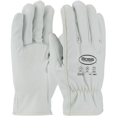 Protective Industrial Products 09-K3750 AR/FR Top Grain Goatskin Leather Drivers Glove with Kevlar® Liner - Straight Thumb