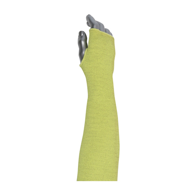 Protective Industrial Products 10-21AXTH Single-Ply PolyKor® Xrystal® / Para-Aramid Blended Sleeve with Smart-Fit® and Thumb Hole