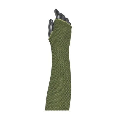 Protective Industrial Products 10-21KVACPMBKTH Single-Ply ACP / Kevlar® Blended Sleeve with Smart-Fit® and Thumb Hole