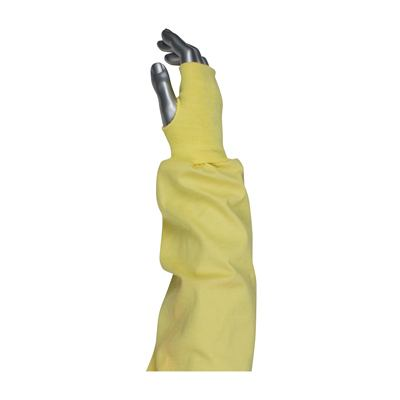 Protective Industrial Products 10-K47 Single-Ply Kevlar® / Cotton Blended Sleeve with Blue/Gold Elastic End and Thumb Hole
