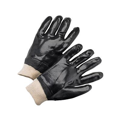 Protective Industrial Products 1007 PVC Dipped Glove with Interlock Liner and Smooth Finish - Knitwrist