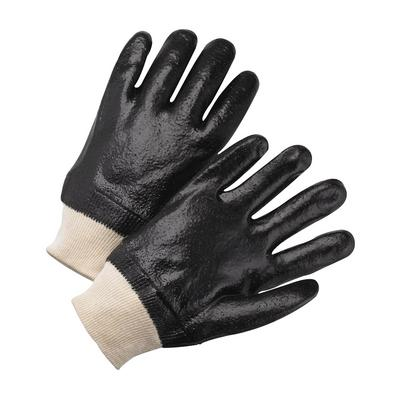 Protective Industrial Products 1007RF PVC Dipped Glove with Interlock Liner and Rough Finish - Knitwrist