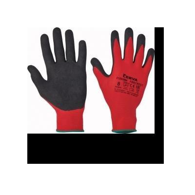 Cervinka 1080084 Red nylon protective gloves