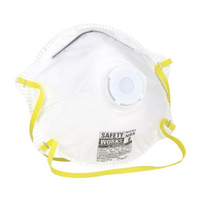 Protective Industrial Products 10102483 N95 Harmful Dust Disposable Respirator with Exhalation Valve - 10 Pack