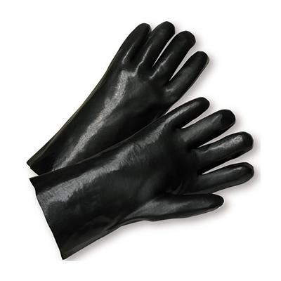 """Protective Industrial Products 1017 PVC Dipped Glove with Interlock Liner and Smooth Finish - 10"""""""