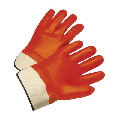 Protective Industrial Products 1017OR PVC Dipped Glove with Jersey Liner and Smooth Finish - Rubberized Safety Cuff